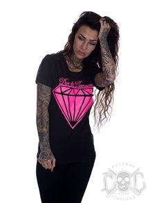 Bikergirl Dirt & Diamond Tee, Svart