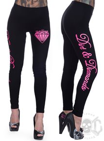 Bikergirl Dirt & Diamonds Leggings, Svarta